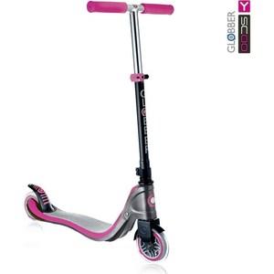 Y-Scoo Самокат Globber My TOO FIX UP 125 grey/plum-pink