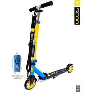 Самокат 2-х колесный Y-Scoo RT mini city 125 Montreal yellow+light blue pro svet light mini par led 312 ir