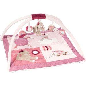 Коврик игровой Nattou Nina, Jade & Lili Кролик, Единорог, Черепашка 987264 игрушка мягкая nattou musical soft toy наттоу мьюзикал софт той nina jade