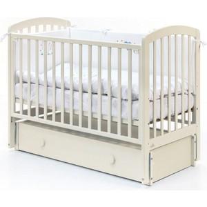 Кровать Fiorellino Tina маятник продольный 120х60 ivory кроватка fiorellino slovenia маятник продольный 120х60 wz 3 7026 oreh