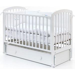Кровать Fiorellino Tina маятник продольный 120х60 white кроватка fiorellino slovenia маятник продольный 120х60 wz 3 7026 oreh