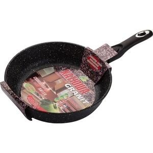 Сковорода со съемной ручкой d 24 см Катюша Гранит (Кт-3824) сковорода для блинов d 26 см катюша кт 9226