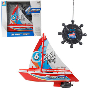 1Toy Яхта на радиоуправлении с парусом (Т58534) игрушка на радиоуправлении яхта с парусом
