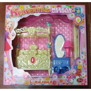 1Toy Набор мебели для кукол - спальня (Т54509) набор мебели 1toy красотка гламур кухня т54506