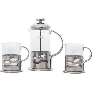 Набор чайник заварочный 0.35 л и 2 стакана 0.2 л Gipfel Galaxy (7077)