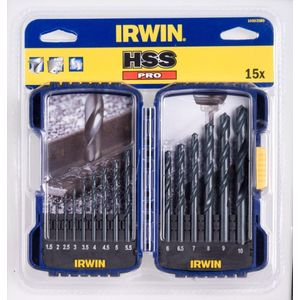 Набор сверл по металлу Irwin 1.0-10.0мм 15шт HSS PRO (10503989) irwin cordless