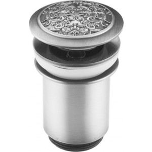 Донный клапан ZorG Antic для раковины матовое серебро (AZR 2 SL) донный клапан zorg antic для раковины бронза azr 2 br