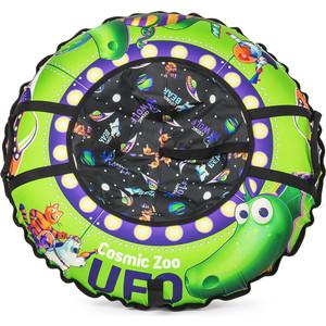 Фотография товара cosmic Zoo Надувные санки-ватрушка UFO Зеленый (динозаврик) (472063/цв 472064) (632466)
