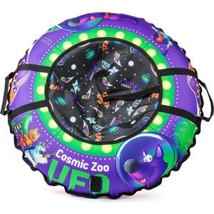 Cosmic Zoo Надувные санки-ватрушка UFO Фиолетовый (волк) (472063/цв 472067) cosmic zoo самокат galaxy one светящиеся колеса зеленый 159032 цв 1150359