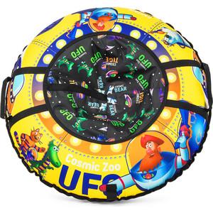 Cosmic Zoo Надувные санки-ватрушка UFO Желтый (капитан Клюква) (472063/цв 1085277) cosmic zoo самокат galaxy one светящиеся колеса зеленый 159032 цв 1150359
