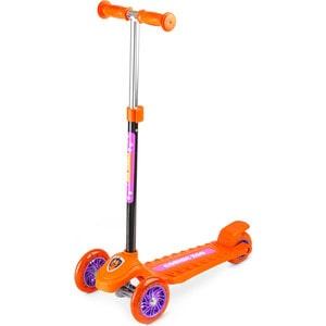 Самокат 3-х колесный Cosmic Zoo Galaxy One (светящиеся колеса) Оранжевый (159032/цв 1150360) самокат 3 х колесный small rider cosmic zoo scooter фиолетовый 1233592 цв 1233595
