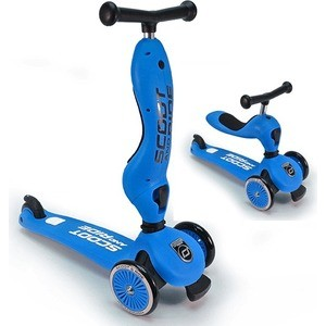 Самокат 3-х колесный Scoot and Ride с сиденьем HighwayKick (2 в 1) Blue (1186507/цв 1186517) re tp scoot