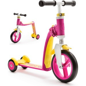 Scoot and Ride Самокат-беговел трансформер Highway Baby Plus Желто-розовый (950888/цв 1152736) re tp scoot