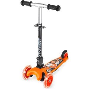 Самокат 3-х колесный Small Rider складной со светящимися колесами Randy Flash оранжевый глянец (1182658/цв 1182671) самокат small rider randy flash orange со светящимися колесами