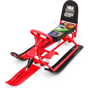 Small Rider Снегокат-вездеход со спинкой и колесиками Snow Comet красный (472736/цв 472746)