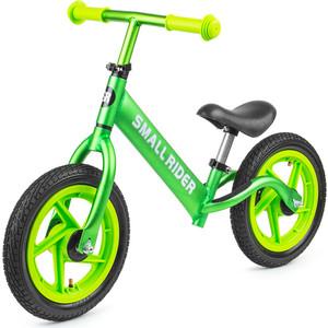 Small Rider Беговел из чистого алюминия Foot Racer AIR, надувные колеса зеленый металлик (377528/цв 377534)