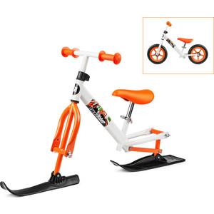 Small Rider Беговел с лыжами и колесами Combo Racer (2 в 1) бело-оранжевый (14721/цв 379958)