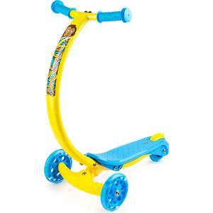 Самокат 3-х колесный Zycom с изогнутой ручкой и светящимися колесами Zipster обезьянка (1149140/цв 1149147) самокат zycom zipster котенок