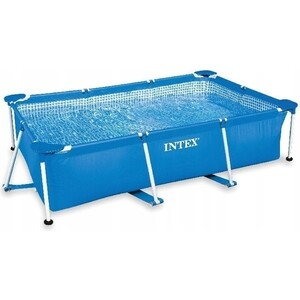 Бассейн каркасный Intex 28271/28271NP Rectangular Frame 260х160х65см тент intex 28037 для каркасного бассейна rectangular frame 389х184см выступ 20см