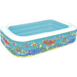 Надувной прямоугольный бассейн Bestway 54120 Подводный мир (229х152х56 см) бассейн надувной bestway disney princess 70х30 см 48 л