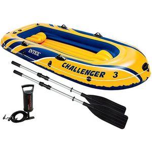 Надувная лодка Intex 68370 Challenger 3 Set (до 300кг) 295х137х43см