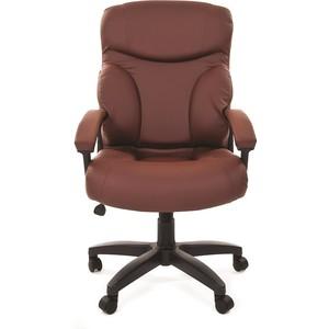 Офисное кресло Chairman 435 LT экопремиум коричневая chairman кресло руководителя chairman ch 435 коричневая кожа