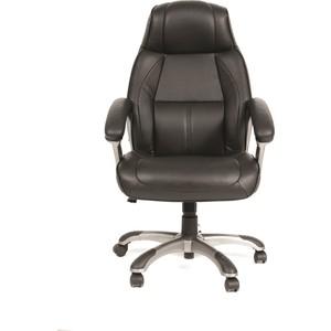 Офисное кресло Chairman 436 Россия кожа черная офисное кресло chairman 403 кожа pu черное