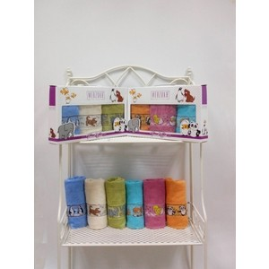 Набор кухонных полотенец Merzuka Детский махра 40x60 3 штуки (8551) набор из 3 полотенец merzuka sakura 50х90 2 70х140 8432 оранжевый