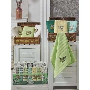 Набор кухонных полотенец Meteor Неделька Lux Olive вафельное 40x60 7 штук (8994)