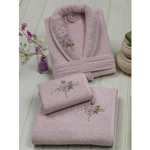 Набор халат женский 3 предмета 3D Merzuka Kamelot (8753 розовый) kamelot osaka