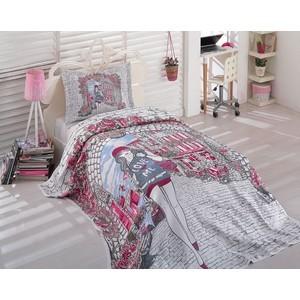 Покрывало Dantela Vita Travel 180х240 + 1 наволочка 50х70 (9148 розовый)