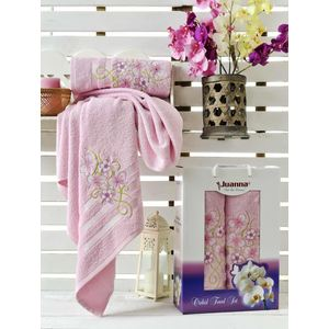 Набор из 2 полотенец Juanna Orkide махра (50х90/70х140) (9194 розовый) набор из 2 полотенец merzuka sakura 50х90 70х140 8430 кремовый