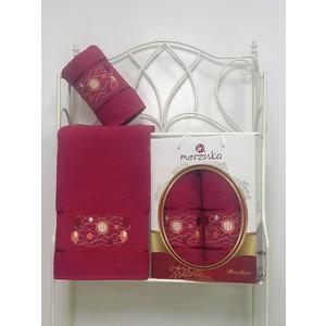 Набор из 2 полотенец Merzuka Prestij махра (50х90/70х140) (8981 бордовый) набор из 2 полотенец merzuka sakura 50х90 70х140 8430 кремовый
