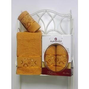 Набор из 2 полотенец Merzuka Prestij махра (50х90/70х140) (8981 горчичный) набор из 2 полотенец merzuka sakura 50х90 70х140 8430 кремовый