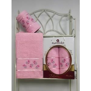 Набор из 2 полотенец Merzuka Prestij махра (50х90/70х140) (8981 светло-розовый) набор из 3 полотенец merzuka sakura 50х90 2 70х140 8432 розовый