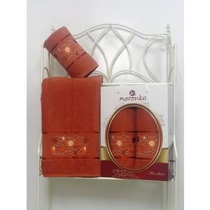 Набор из 2 полотенец Merzuka Prestij махра (50х90/70х140) (8981 терракотовый) набор из 3 полотенец merzuka sakura 50х90 2 70х140 8432 терракотовый