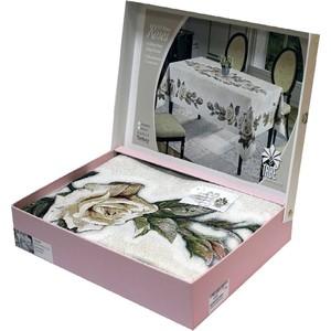 Скатерть Tabe Roses 160х220 гобеленовая жаккард пано (8810)