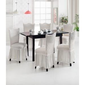 Набор чехлов для стульев 6 предметов Do and Co (8029 натуральный)