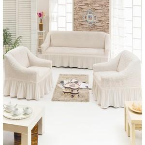 Набор чехлов для мягкой мебели 3 предмета Juanna (7565 кремовый)