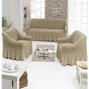 Набор чехлов для мягкой мебели 3 предмета Juanna (7565 молочный)