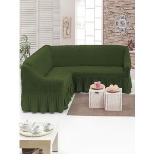 Чехол для углового дивана Do and Co (8209 оливковый)