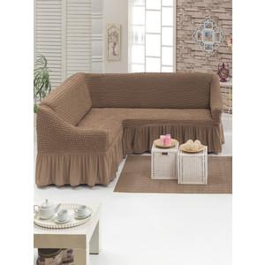Чехол для углового дивана Juanna (8209 серо-коричневый)