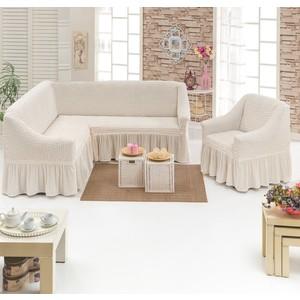 Набор чехлов для мягкой мебели 2 предмета Juanna (8211 кремовый)