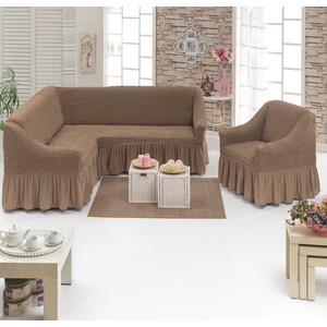 Набор чехлов для мягкой мебели 2 предмета Juanna (8211 серо-коричневый)