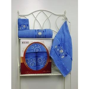 Набор из 3 полотенец Merzuka Prestij махра (30х50-1/50х90-1/70х140-1) (8427 голубой) набор из 3 полотенец merzuka sakura 50х90 2 70х140 8432 оранжевый