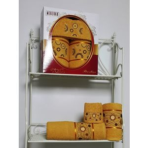 Набор из 3 полотенец Merzuka Prestij махра (30х50-1/50х90-1/70х140-1) (8427 горчичный) набор из 3 полотенец merzuka sakura 50х90 2 70х140 8432 оранжевый