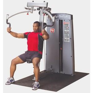 Двухпозиционный тренажер Body Solid для грудных и дельтовидных мышц с весовым стеком 95 кг DPEC-SF