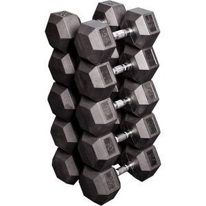 Набор Body Solid гексагональных гантелей: 5 пар от 24,75 кг до 33,75 кг с шагом 2,25 кг SDRS650