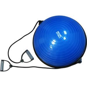 Полусфера гимнастическая надувная Original Fit.Tools с эспандерами и насосом FT-BSU-EX