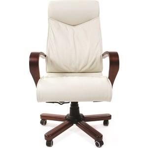 Офисное кресло Chairman 420 WD кожа белая офисное кресло chairman 403 кожа pu черное
